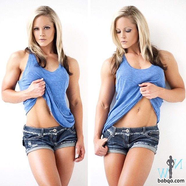 awesome babe with fitness body and muscle legs pic from linkedin