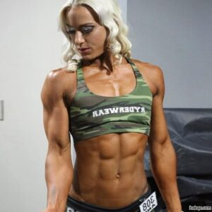 sexy female with muscular body and muscle arms image from flickr