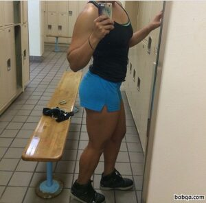 awesome female bodybuilder with fitness body and muscle biceps post from flickr