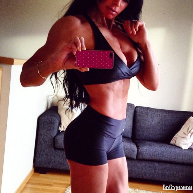 sexy female bodybuilder with muscle body and muscle ass pic from g+