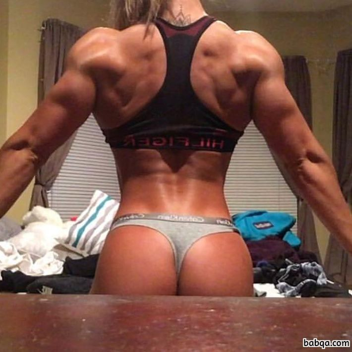 beautiful chick with strong body and muscle arms photo from facebook