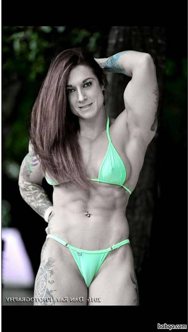 beautiful lady with strong body and toned arms repost from facebook