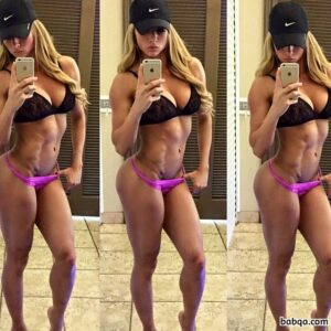 hot female bodybuilder with strong body and muscle biceps repost from reddit