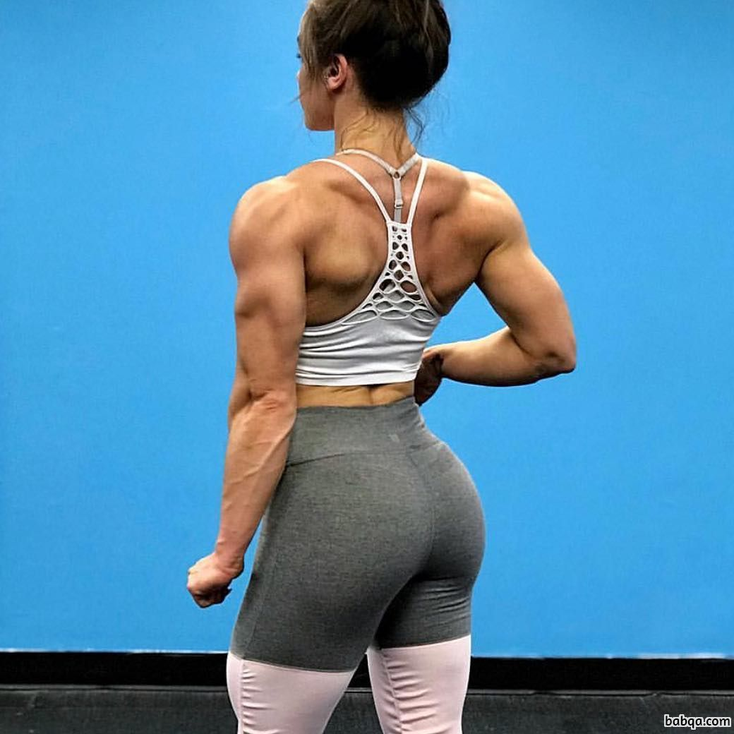 beautiful female with muscular body and muscle legs photo from instagram