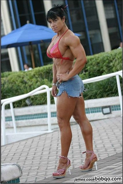 spicy babe with muscular body and muscle biceps post from linkedin