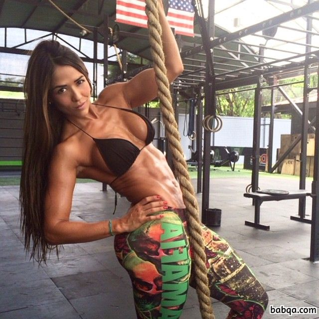 perfect lady with muscular body and muscle biceps repost from tumblr