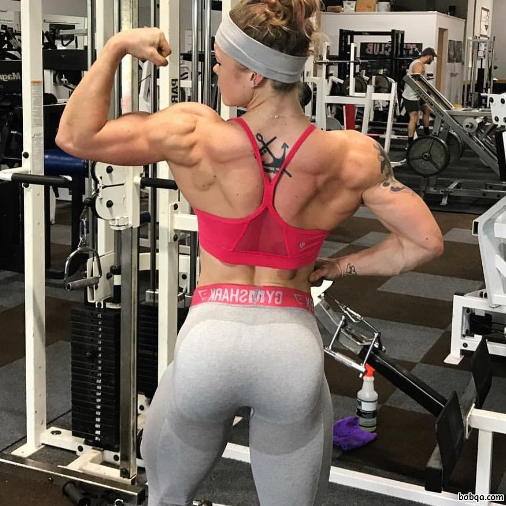sexy woman with strong body and muscle legs picture from linkedin