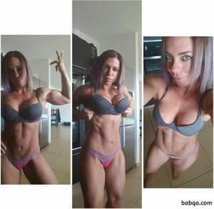spicy woman with muscular body and toned arms pic from instagram
