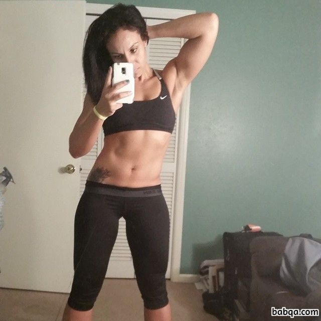 beautiful lady with fitness body and muscle booty post from tumblr