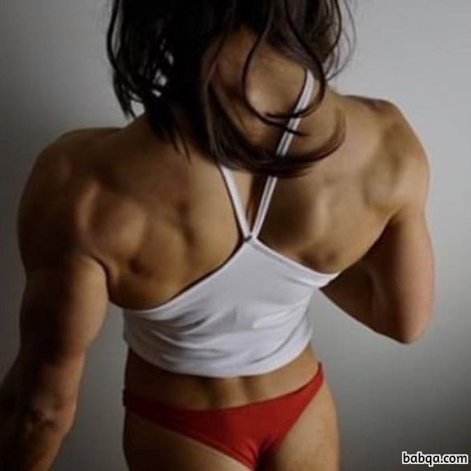 sexy babe with fitness body and muscle booty repost from flickr