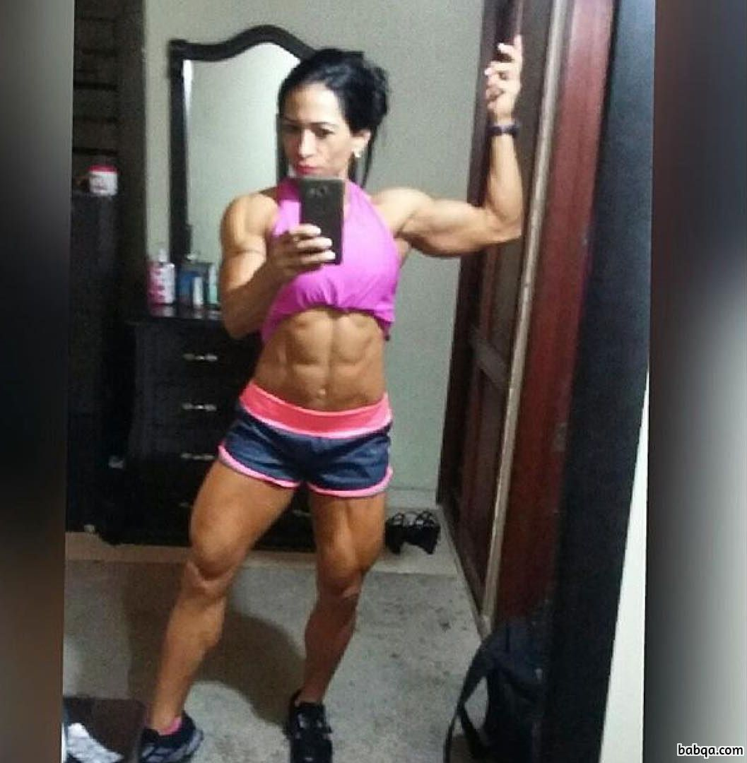 perfect girl with muscle body and muscle bottom pic from facebook