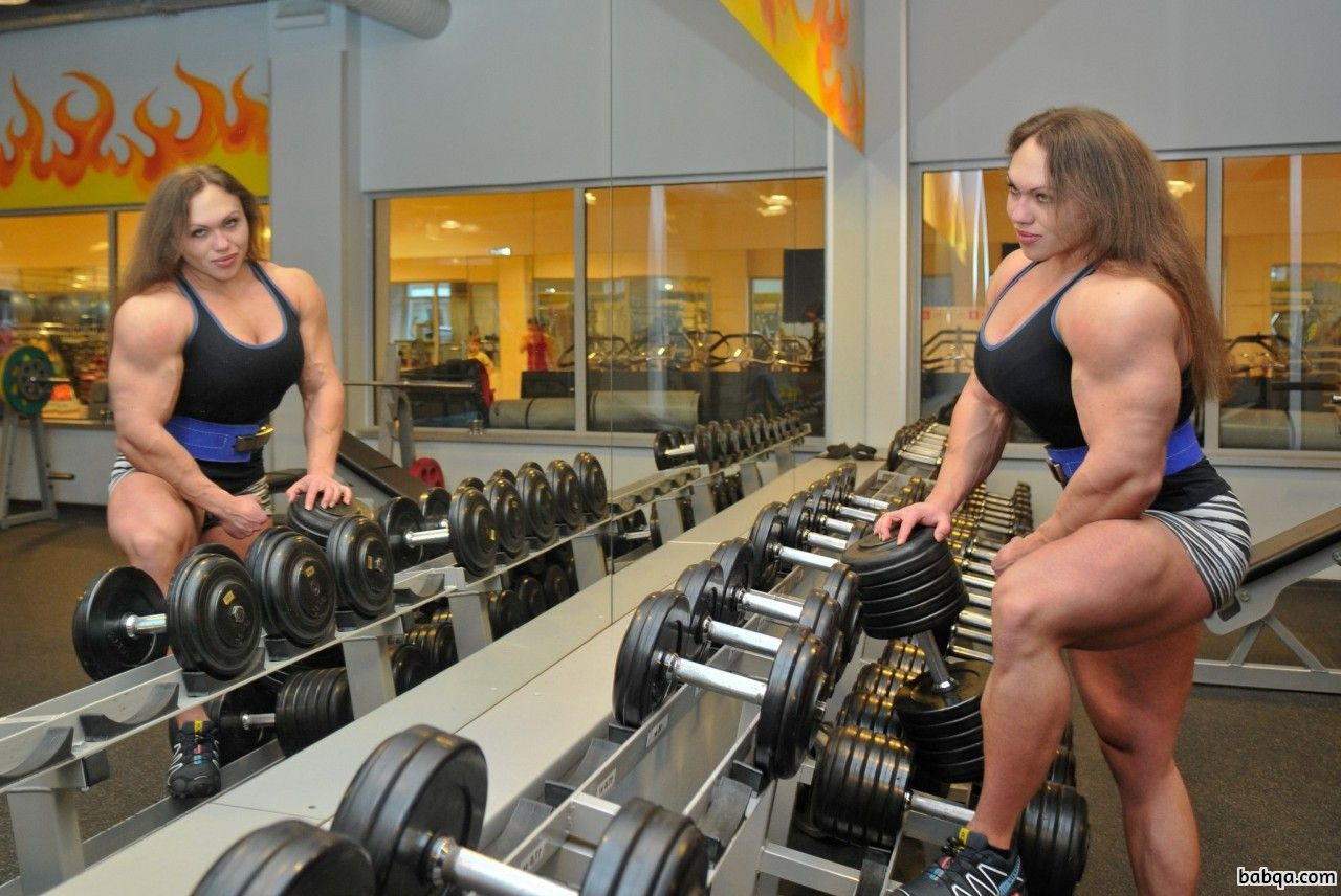 awesome chick with strong body and muscle bottom pic from flickr