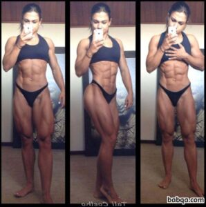 hot female bodybuilder with strong body and muscle booty post from tumblr