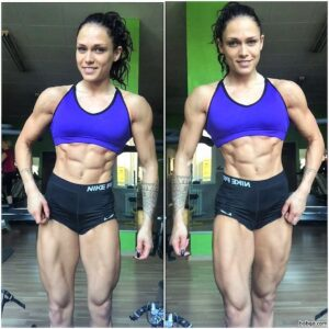 hot female bodybuilder with muscle body and toned arms post from instagram