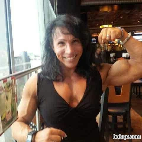 hottest female bodybuilder with strong body and toned bottom image from reddit