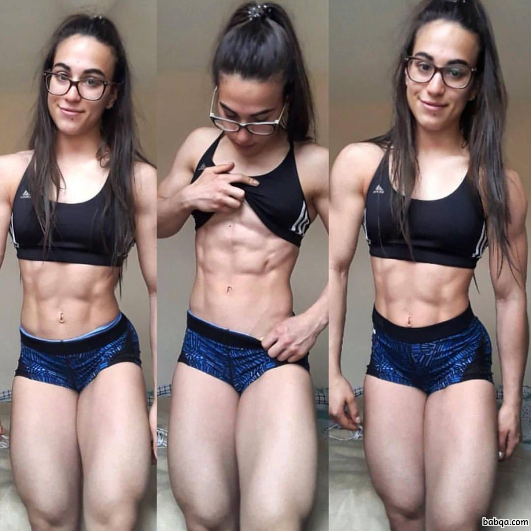 awesome female bodybuilder with fitness body and muscle booty photo from tumblr
