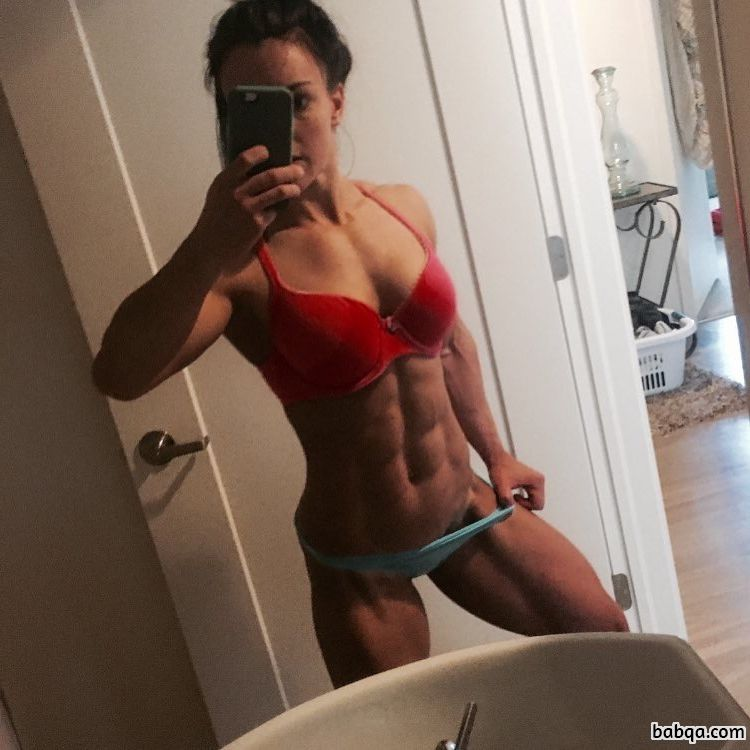 beautiful girl with fitness body and toned biceps post from linkedin