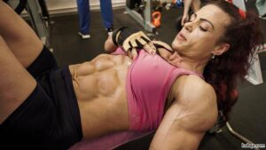 perfect female with strong body and muscle biceps photo from linkedin