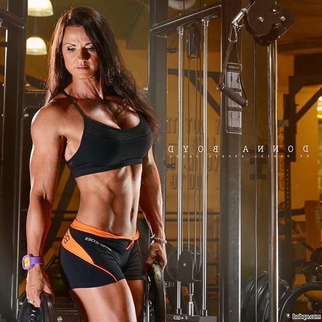 perfect woman with strong body and muscle arms post from tumblr