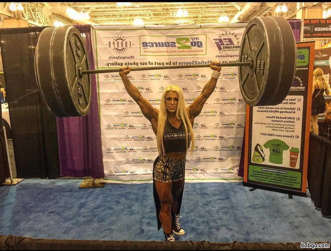 awesome female bodybuilder with strong body and toned biceps picture from flickr