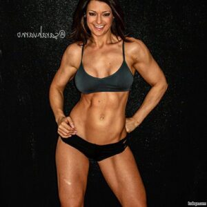 perfect female bodybuilder with muscle body and toned biceps picture from g+