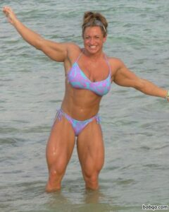 beautiful babe with muscular body and toned arms pic from facebook