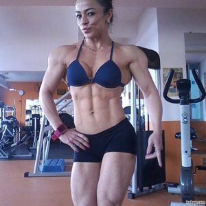 hot girl with muscular body and muscle legs image from tumblr