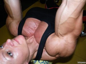 hottest female bodybuilder with fitness body and muscle booty post from g+