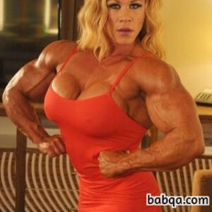hottest chick with muscular body and toned biceps post from tumblr