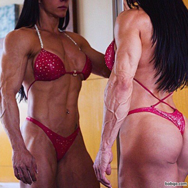 hottest female bodybuilder with muscle body and muscle ass photo from reddit