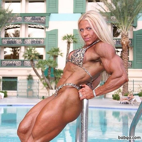 hottest babe with muscle body and muscle biceps photo from flickr