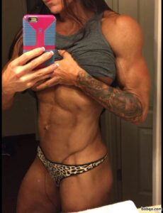 beautiful female bodybuilder with strong body and muscle biceps picture from reddit
