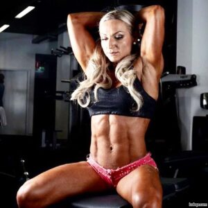 hot female bodybuilder with muscular body and toned biceps post from tumblr