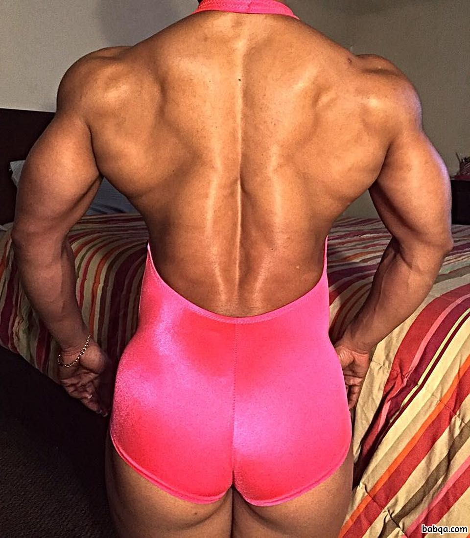 awesome female bodybuilder with muscular body and muscle ass image from linkedin