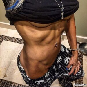 awesome girl with fitness body and toned biceps picture from reddit