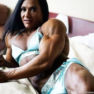 hot girl with muscular body and muscle legs photo from facebook
