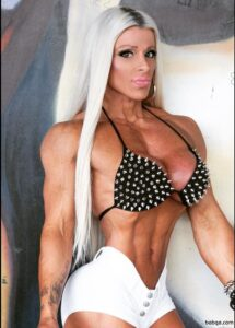 sexy girl with muscle body and muscle biceps pic from reddit
