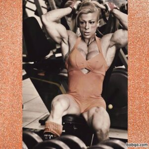 awesome chick with muscle body and muscle arms image from facebook