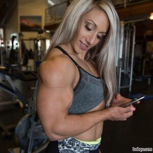 awesome female bodybuilder with strong body and toned biceps repost from flickr
