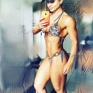 sexy female bodybuilder with muscular body and toned legs picture from tumblr