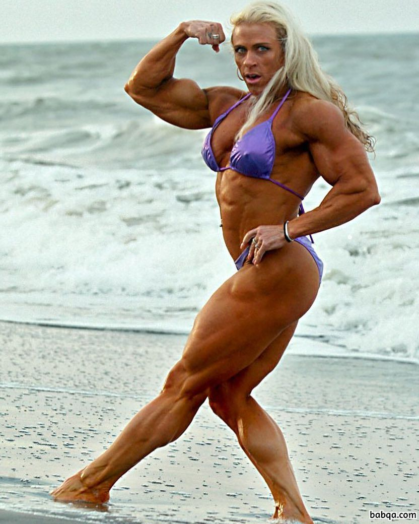 awesome babe with strong body and muscle arms post from flickr