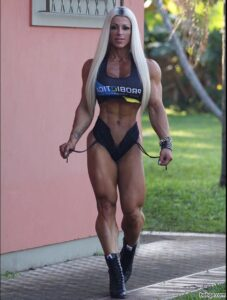 sexy girl with muscle body and toned booty image from linkedin