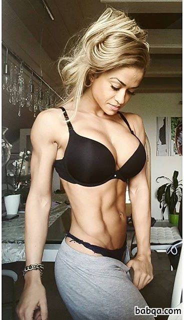 beautiful girl with strong body and muscle bottom post from facebook