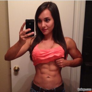 cute female bodybuilder with strong body and toned ass image from g+