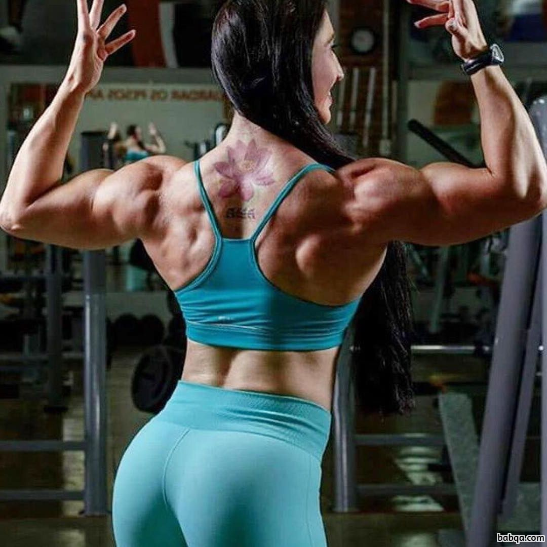 perfect girl with muscular body and muscle arms pic from facebook