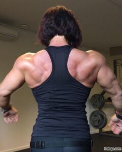 cute lady with muscle body and toned biceps image from tumblr