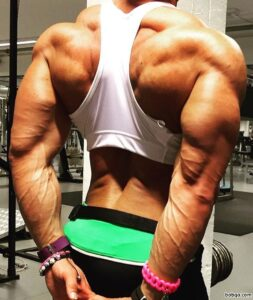 perfect female with fitness body and muscle arms image from g+