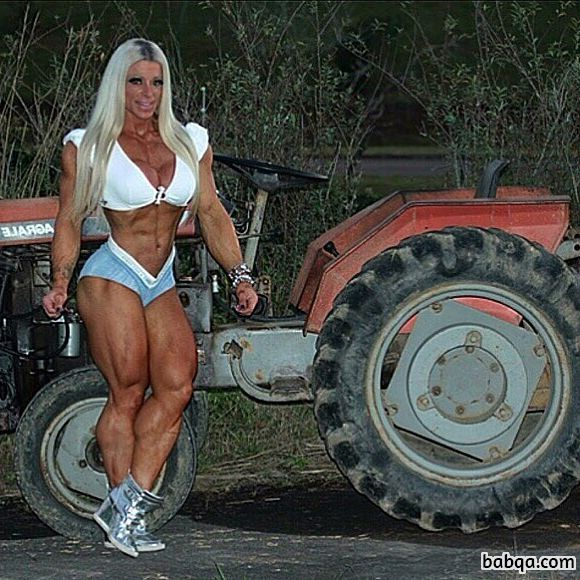 hot babe with strong body and toned biceps pic from tumblr