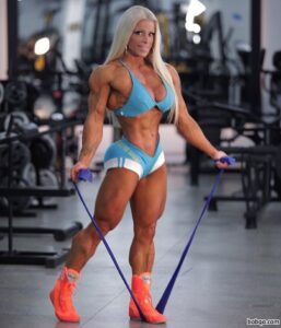 hottest woman with muscle body and toned legs repost from facebook