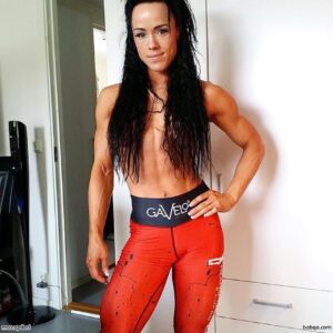 sexy chick with muscular body and muscle arms repost from tumblr